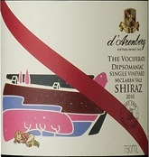 d'Arenberg The Vociferate Dipsomaniac Shiraz McLaren Vale wine from Australia
