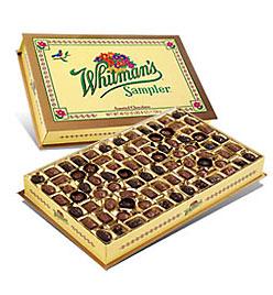 Whitman's Chocolate Sampler box - wine pairing by winegeographic.com