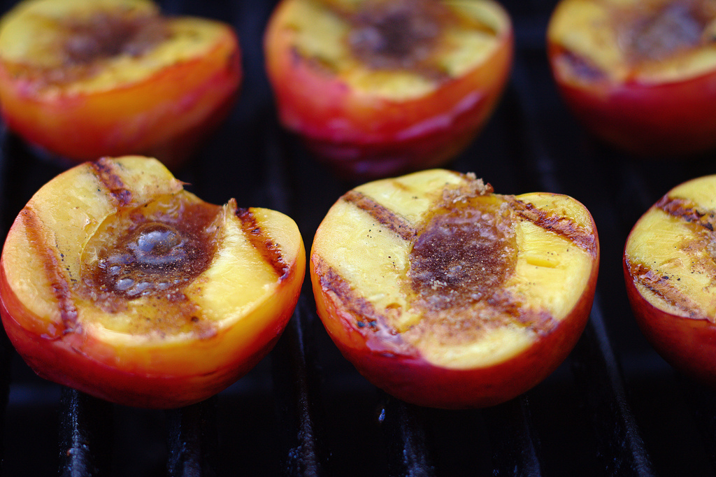 Photo of Grilled Peaches by Flickr User: Mike McCune, article by WineGeographic.com