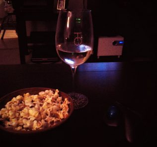 wine and a movie