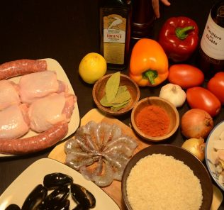wine and ingredients